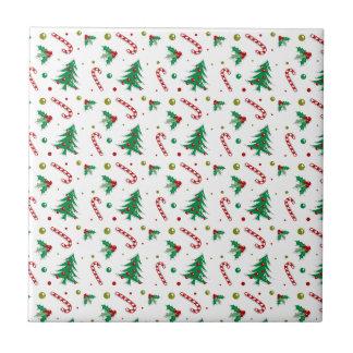 Het Riet, de Maretak, en de Kerstbomen van het Tegeltje Vierkant Small