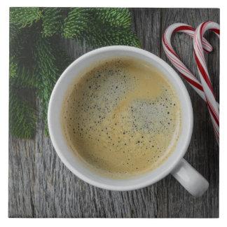 Het Riet van de koffie en van het Snoep voor het Tegeltje Vierkant Large