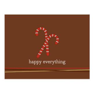 Het riet van het snoep en koordenVakantie/Kerstmis Briefkaart