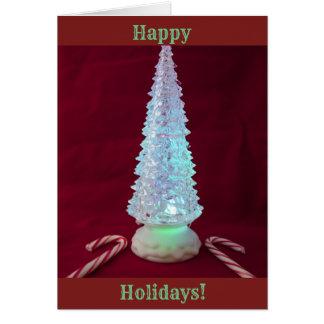 Het Riet van het Snoep van de kerstboom Kaart