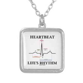 Het Ritme van het Leven van de hartslag (ECG/EKG) Zilver Vergulden Ketting