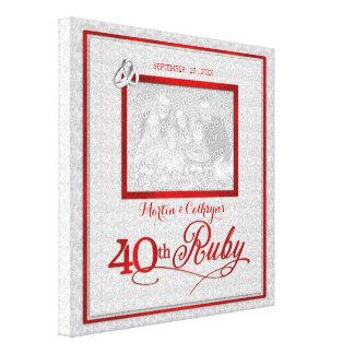 Het robijnrode Jubileum van het Huwelijk - Canvas Print