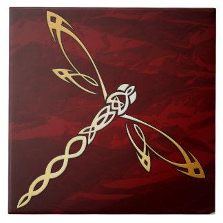 Het robijnrode Rode Middeleeuwse Ritueel van de Keramisch Tegeltje