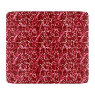 Het Robijnrode Rood van het Gekrabbel van het hart Snijplank