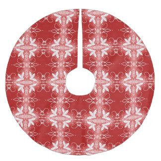 Het rode abstracte patroon van het Ornament van Kerstboom Rok