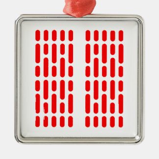 Het RODE ALARM van de Binnenlandse Verlichting van Zilverkleurig Vierkant Ornament