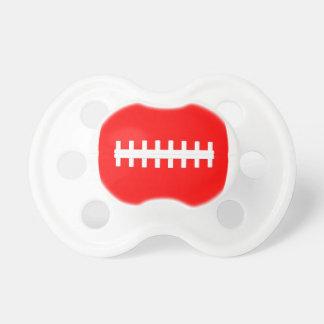 Het rode Baby van het Football Weinig Fopspeen van