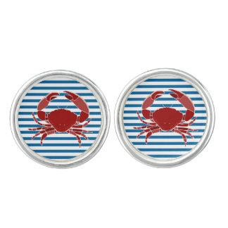 Het rode Blauw van de Krab en Manchetknopen