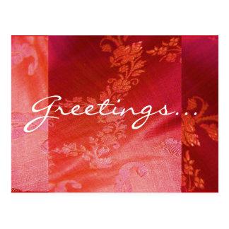 Het rode Bloemen Klantgerichte Briefkaart van I - Wenskaarten