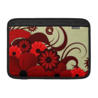 Het rode BloemenSleeve van de Lucht van Macbook Sleeve For MacBook Air