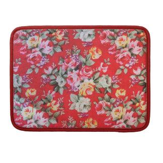 Het rode bloemenSleeve van Macbook van de Riksja, Sleeve Voor MacBooks
