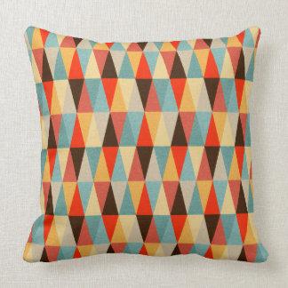 Het rode & Bruine Geometrische Patroon van de Kussen