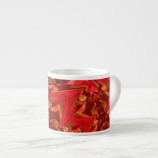 Het rode Digitale Art. van de Bliksem Espresso Kop