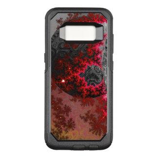 Het rode DwergFractal Levendige Galactische OtterBox Commuter Samsung Galaxy S8 Hoesje