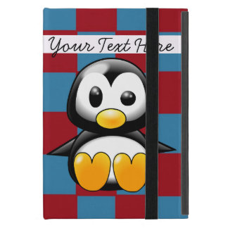 Het rode en Blauwe Leuke MiniHoesje van de Pinguïn iPad Mini Hoesje