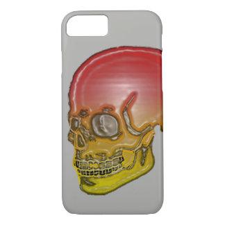 Het rode en gele Zilver van de schedel! iPhone 8/7 Hoesje