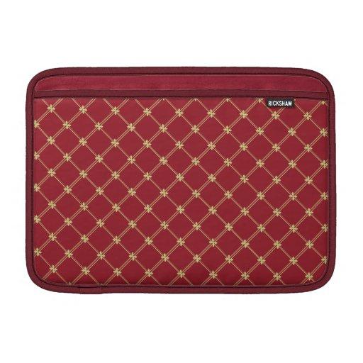Het Rode en Gouden Patroon van Tudor 11 Duim Beschermhoezen Voor MacBook Air