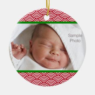 Het rode en Groene Ornament van de Foto van de