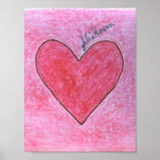 Gepersonaliseerde roze harten posters en afdrukken for Door het hart van china