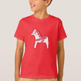 Het rode en Witte Overhemd van het Paard Dala T Shirt