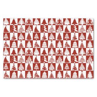 Het rode en Witte Patroon van de Vakantie van de 25,4 X 38,1 Cm Zijdepapier