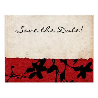 Het rode en Zwarte Gescheurde Huwelijk van het Briefkaart