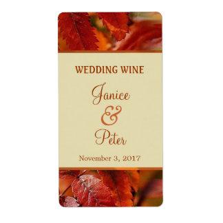 Het rode Etiket van de Wijn van het Huwelijk van d