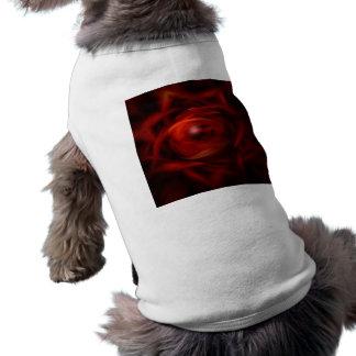 Het rode Gebied van de Brand Mouwloos Hondenshirt