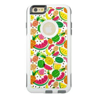 Het rode & Gele Tropische Patroon van het Fruit OtterBox iPhone 6/6s Plus Hoesje