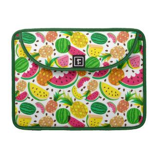 Het rode & Gele Tropische Patroon van het Fruit Sleeve Voor MacBooks