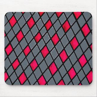 Het rode Geometrische Patroon van de Diamant Muismat