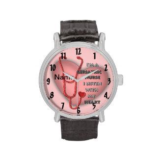 Het rode Geriatrische Hart van de Verpleegster Horloges