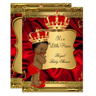 Het rode Gouden Afrikaanse Amerikaanse Baby shower Kaart