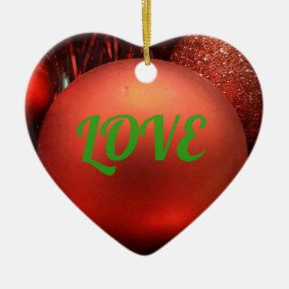 Het rode Hart Gevormde Ornament van de Vakantie