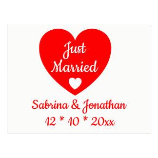 Het rode Hart huwde enkel de Liefde van de Briefkaart