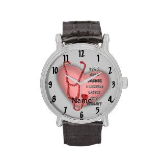Het rode Hart KAN verzorgen Horloge