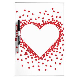 Het rode Hart van Confettien Whiteboard