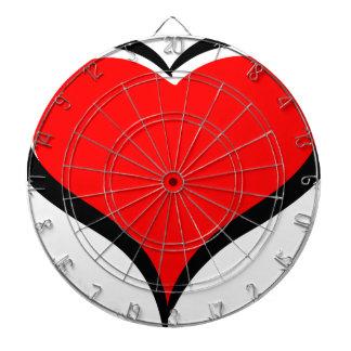 Het rode Hart van de Liefde Dartborden