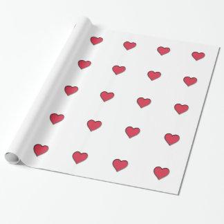 Het Rode Hart van de Valentijnsdag Cadeaupapier