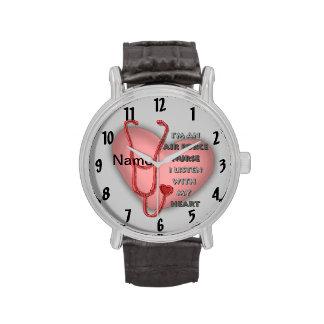 Het rode Hart van de Verpleegster van de Luchtmach Horloges