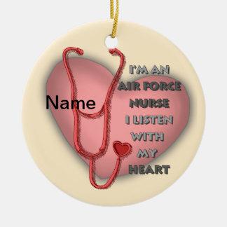 Het rode Hart van de Verpleegster van de Rond Keramisch Ornament