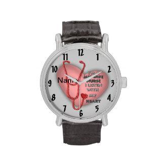 Het Rode Hart van de Verpleegster van de vroedvrou Horloge