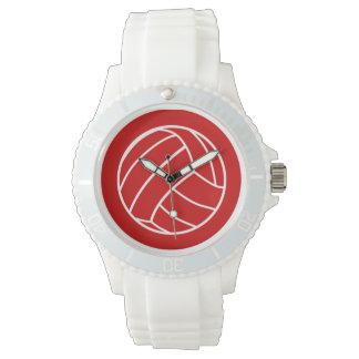 Het rode Horloge van het Volleyball