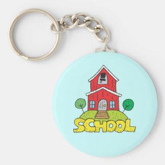 Het rode Huis van de School Sleutelhanger