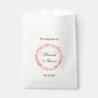 Het rode Huwelijk van Confettien - de Zak van de Bedankzakje