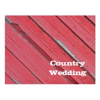 Het rode Huwelijk van het Land van de Schuur Briefkaart