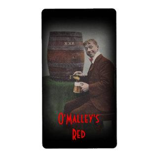 Het Rode Lagerbier van O'Malley van het Etiket van