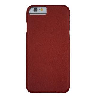 Het rode Leer kijkt iPhone 6 hoesje Barely There iPhone 6 Hoesje