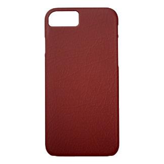 Het rode Leer kijkt iPhone 7 hoesje