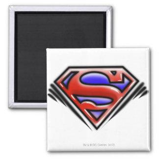 Het rode Logo van de Superman van het Luchtpenseel Koelkast Magneetje